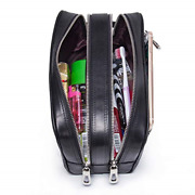 Contactand039s-genuine Leather Toiletry Bag Travel Bag With Handle Water-resistant