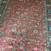 Authentic Kashan Persian Carpet Hand Woven And Imported 8and039 X 11and039