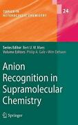 Anion Recognition In Supramolecular Chemistry English Hardcover Book Free Ship
