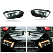 Led Headlights Assembly For Benz A-class 19-20 Led Drl Replace Factory Halogen