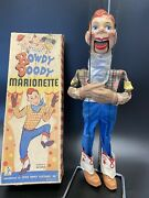 Vintage 50's Peter Puppet Howdy Doody String Marionette W/ Original Box