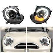 Hid Headlights Assembly For Bmw Mini R56 07-13 Led Drl Replace Factory Halogen