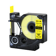 20pk 18432 Vinly Label Tape For Dymo Rhino 1000 3000 Black On Yellow 12mm X 5.5m