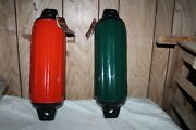 Taylor Made Super Gard Inflatable Vinyl Fenders Red Green 6.5 X 22in Boat