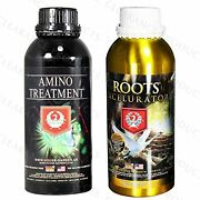 House And Garden Roots Excelurator And Amino Treatment Hydroponics 1 Liter Bundle