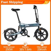250w 36v 6 Speed 16and039and039 Fat Tire Folding Electric Bicycle City Beach E-bike Gray