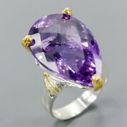 Color Aaa If 30 Ct Amethyst Ring Silver 925 Sterling Size 7.5 /r154072