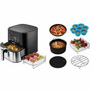 Cosori Stainless Steel Air Fryer 100 Recipes Rack And 5 Skewers 5.8qt Large Ai