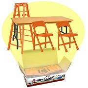 Ultimate Ladder Table And Chairs Orange Playset For Wwe Wrestling Action Figures