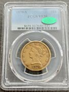 Avc- 1870-s 10 Gold Liberty Eagle Pcgs Vf30 Cac - 8000 Minted