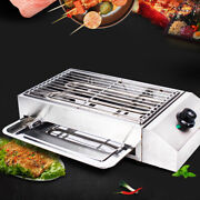 Electric Grill Hot Plate Bbq Barbecue Indoor/outdoor Smokeless Cooking Griddle