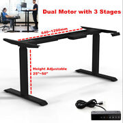 Electric Stand Up Desk Frame Dual Motor W/ 3-stage Height Adjustable Steel Legs