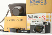 【unused】 Nikon S3 Year 2000 Limited Edition Nikkor-s 50mm F/1.4 From Japan 1223