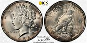 1935 Peace Silver Dollar Pcgs Ms66 Awesome Color