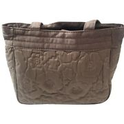 Thirty-one New Brown Quilted Poppy Demi Purse Handbag