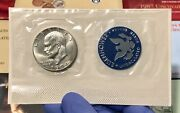 1974 S Eisenhower Bu Blue Pack 40 Silver Ike Dollar In Ogp With Certificate