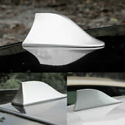 White Functional Shark Fin Antenna Roof Am/fm Radio Aerial Universal Fit Bmw Vw