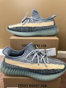 Adidas Yeezy Boost 350 V2 Ash Blue Gy7657 Men Sizes 10-14 Brand New Ships Fast