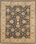 Vintage Tribal Area Rug 8and0390 X 10and0390 Authentic Oushak Hand Knotted Wool Carpet