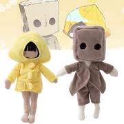 2pcs Little Nightmares Plush Toys Mono And Six Soft Stuffed Game Doll Kids Gifts