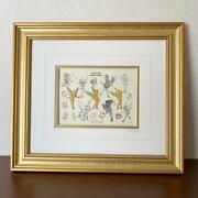 Vintage Disney Tinkerbell Pins Picture With Frame Limited Serial Number