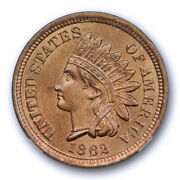 1862 1c Indian Head Cent Ngc Ms 65 Uncirculated Copper Nickel Exceptional Coin