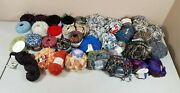 Large Mixed Lot Of Knitting Yarn Skeins 36 Pcs All New