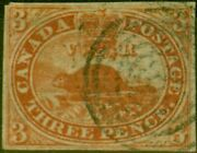 Canada 1851 1d Red Sg1 Fine Used Example Of This Early Classic 4 Clear Neat M