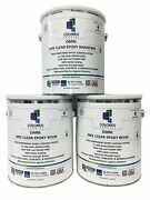 Coloredepoxies 10002 Clear Epoxy Resin Coating 100 3 Gallon Kit|clear