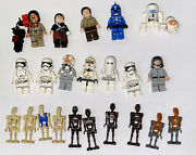 Lot Of 15 Lego Minifigures Star Wars Figures - Clone Trooper, First Order, More+