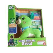 Leap Frog Read With Me Scout Dog Plush Interactive Toy 5 Books Set Open Box New