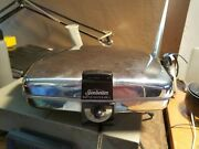 Vintage Chrome Sunbeam Waffle Baker And Grill Model Cg-1 W/ Plates