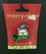 Department 56 Merry Glow Penguin With Tinsel Plastic Lapel Pin W/ Decorative Box