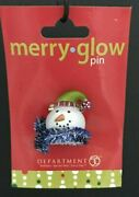 Department 56 Merry Glow Snowman With Tinsel Plastic Lapel Pin