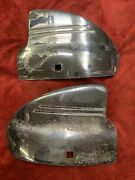 1941 Chevy Rear Wing Tip Bumper Guard Wrap Arounds Accessory Low Rider Bomb Og 2