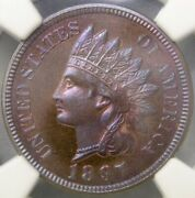 1897 Indian Head Cent/penny Unique Pop 1/0 Magnificent Finest Known Ngc Pf 66+rb