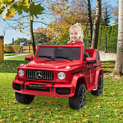 12v Kids Ride On Car 2.4ghz Remote Control Electric Jeep Car Led Lights Red