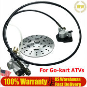 Rear Hydraulic Brake Master Cylinder And Disc Rotor For Go-kart Atvs 4 Wheeler New