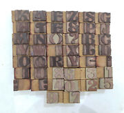 44 Letterpress Wood/wooden Hand-carved Matrices For Type Englishwmt78