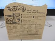 1969 Redline Hot Wheels The Spoilers Blue Heavy Chevy On Unpunched Card