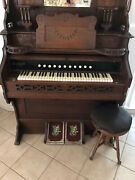 Victorian Antique Reed Pump Organ. Includes Claw Leg Stool. Excellent Condition.