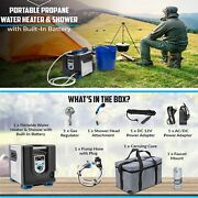 Portable Propane Water Heater And Shower Pump W/built-in Battery W/lcd For Camping