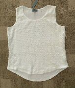 Joseph A Woman White Sleeveless Pullover Top Star Lace Overlay Plus Size 1x
