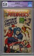 Avengers 4 Cgc 2.0 1st Silver Age Captain America Lowest Price