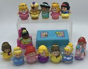 Fisher Price Little People Disney Princess Characters Table+chair Lot Of 18