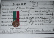Wwi Mercantile Marine War Medal - Rnvr From Cardiff.