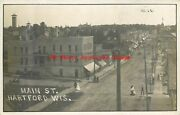 Wi Hartford Wisconsin Rppc Main Street Business Section 1910 Pm No 221