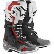Alpinestars Tech 10 Supervented Boots Offroad Black/white/gray/red All Sizes