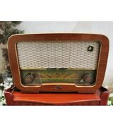 1952 Antique Rare Wooden Swedish Table Tube Radio Model V352 By Dux Working