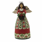 Jim Shore Winter's Beauty Is A Blessing Christmas Floral Angel 6006650
